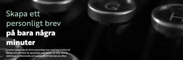 Cover image for Blogga om Cowrite - skapa ett personligt brev på bara några minuter!